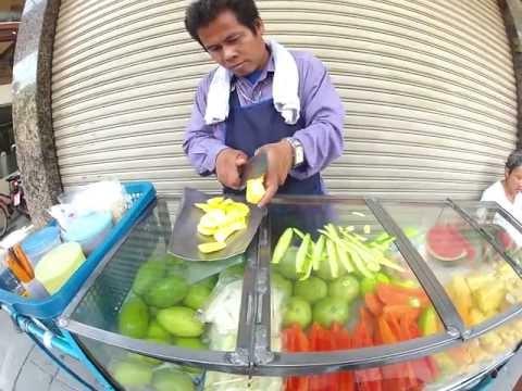Cách Gọt Xoài Ở Thái Lan