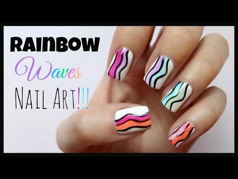 Rainbow Wave Nail Art!!!   MissJenFABULOUS