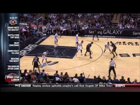 March 06, 2014 - ESPN - Game 59 Miami Heat @ San Antonio Spurs - Loss (43-16)(Sportscenter)