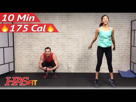 10 Minute Workout : Cardio HIIT Home Workout without Equipment for Fat Loss - Full Body Exercises