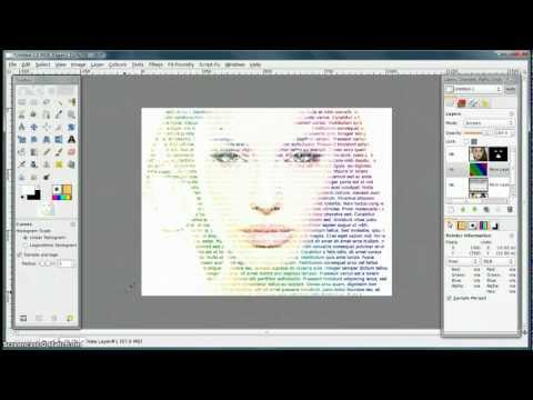 GIMP Tutorial - Make an image from Letters