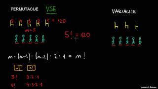 Razlika med permutacijami in variacijami