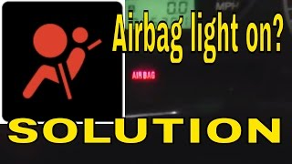 How To Reset Clear The Airbag Air Bag Control Module Light