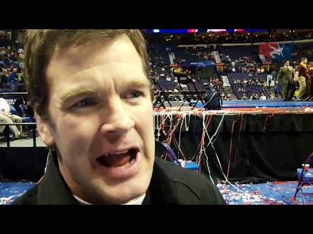 Iowa assistant Terry Brands after the NCAA Championships