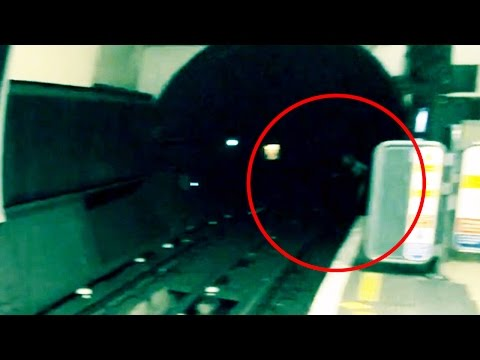 UNEXPLAINED Disturbing Footage Creepy Black Eyed Ghost Captured London Underground