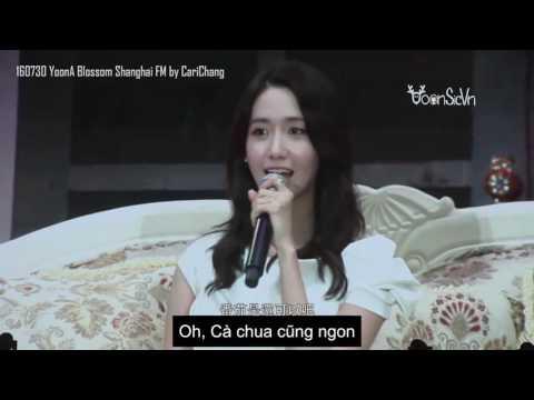 [Vietsub] 160730 YoonA Shanghai FM opening&QA