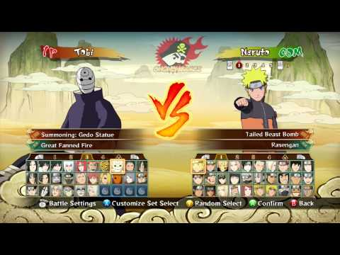 Naruto Shippuden: Ultimate Ninja Storm Revolution Full Character Roster (+Costumes)