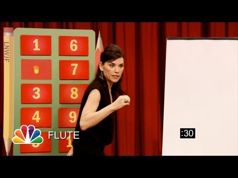 Pictionary with Julianna Margulies and Jimmy Fallon Part 1