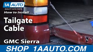 How To Install Replace Tailgate Cable Chevy Silverado GMC