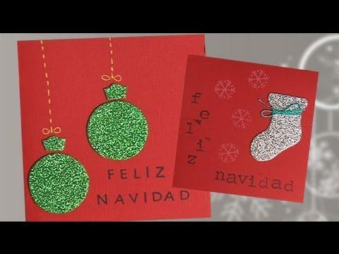 Postales de navidad con purpurina manualidades para ni os - Felicitaciones de navidad originales para ninos ...