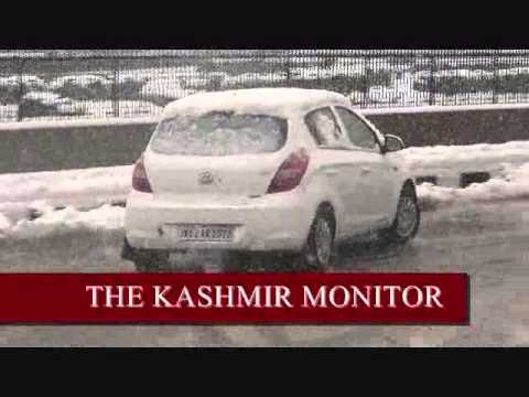 Heavy snowfall in Srinagar city