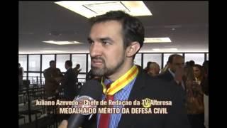 Chefe de reda��o da TV Alterosa recebe homenagem da Defesa Civil