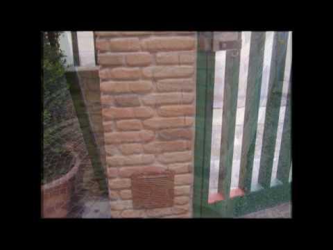 Pilastri in mattoni a facciavista