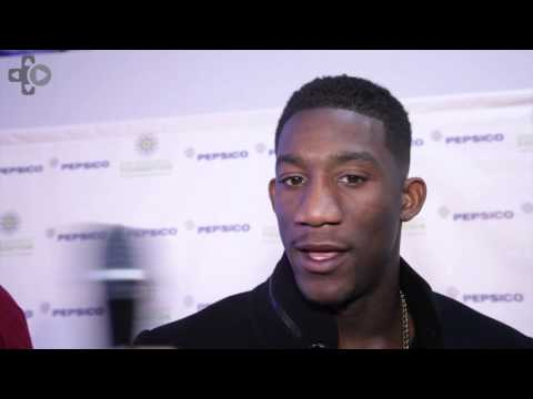 Antrel Rolle Gets His Madden Game On