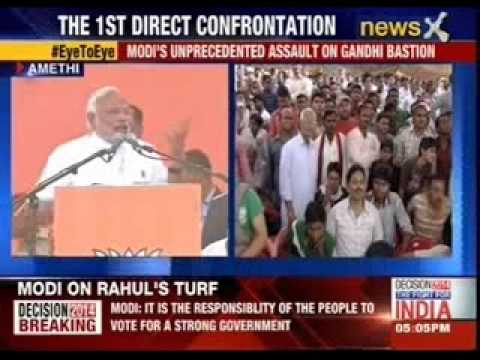 Narendra Modi campaigns for Smriti Irani in Amethi