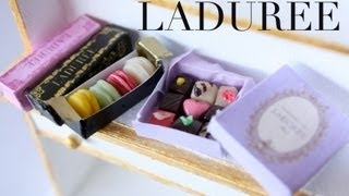Ladurée Macarons & Chocolate Polymer Clay Tutorial