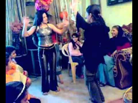 arabian women dancing at home