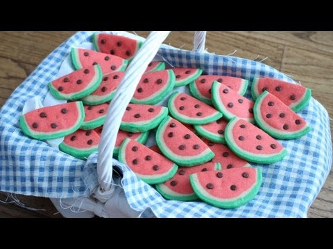 How to Make Watermelon Cookies!