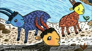 The Three Billy Goats Story with subtitles