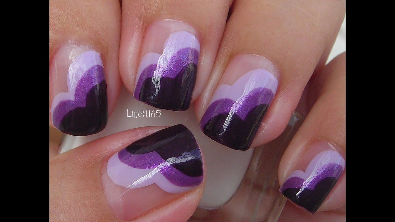 Nail art wear purple for lupus decoracion de u as - Decoracion para unas ...