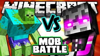 MUTANT ZOMBIE VS MUTANT ENDERMAN Minecraft Batalha De