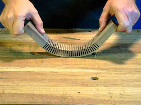 Kerf Bending Wood Parts Mp4 Youtube