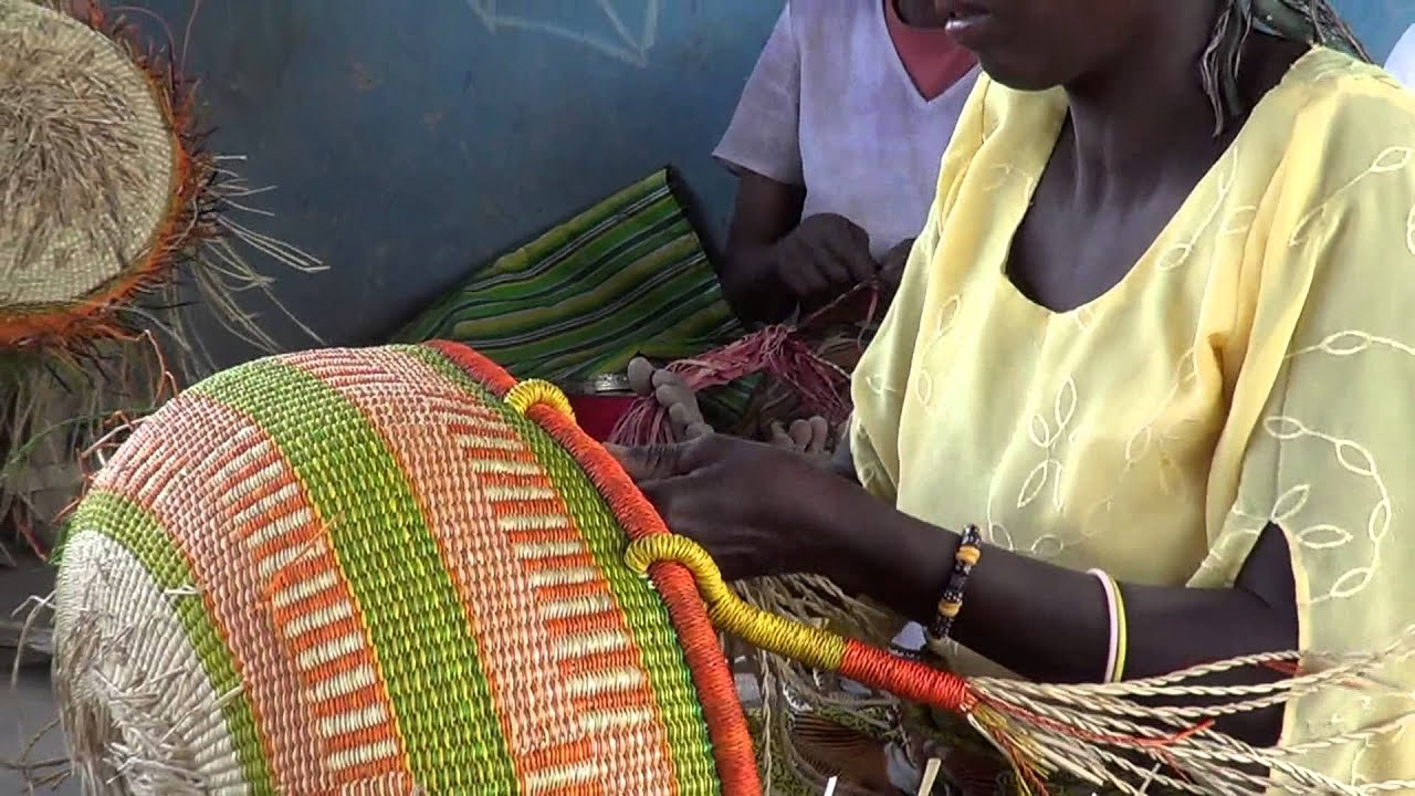 Basket Weaving Groups : Ojoba basket weaving ghana