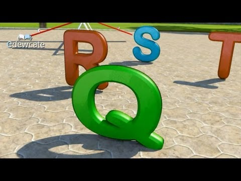 The English Alphabet (The ABC song) rhyme