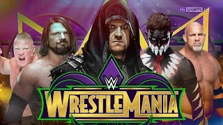 WWE WrestleMania 34 Dream Match Card