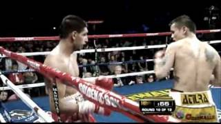 Marcos Maidana Punishing Khan Badly In The 10th Round