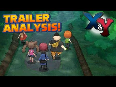 Pokémon X and Y - Rival Characters, Vaniville Town and New Pokémon | Gameplay Trailer 4 Analysis