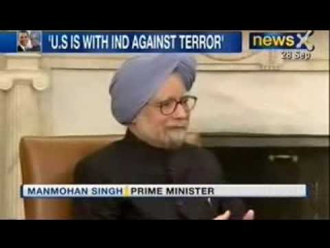News X : PM Manmohan Singh meets Obama at White House