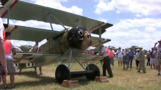 Old Kingsbury Aerodrome Fokker Dr.1 Triplane Engine Run