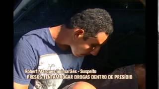 Dupla � presa tentando jogar droga dentro de pres�dio em Divin�polis