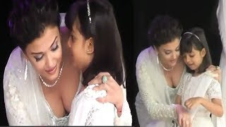 Aishwarya Rai Beautiful In White Dress || Aishwarya Rai With Her Daughter Aaradhya || NSE