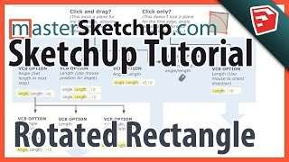 SketchUp Rotated Rectangle Tutorial (SketchUp 2015 New