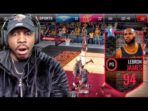 94 POINT GUARD LEBRON JAMES JUMPING OVER OPPONENTS! NBA Live Mobile 16 Gameplay Ep. 82