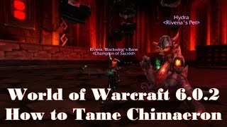 World Of Warcraft 6.0.2 How To Tame Chimaeron