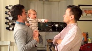 Watch This Baby Adorably Get Confused By Dad and His Identical Twin
