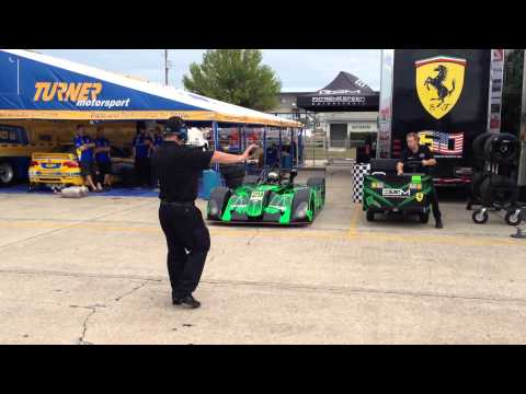 Paddock traffic jams 2014 12 Hours of Sebring