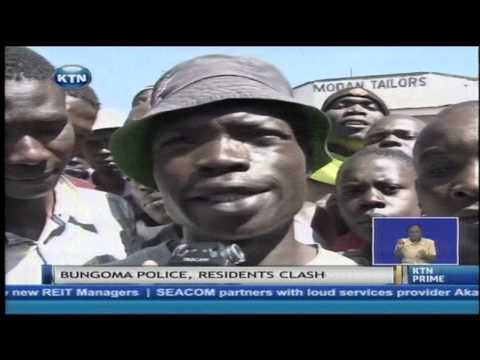 Biggest mob ever in Bungoma town stopped from lynching robbery suspects
