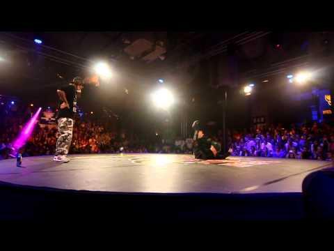 Red Bull BC One 2012 - Western European Qualifier - 1st round - Menno vs Hat Solo