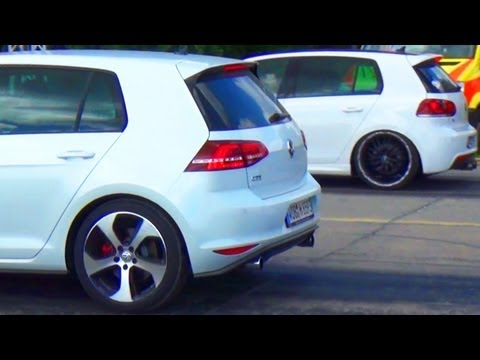 VW Golf 7 GTI vs GOLF 6 R Drag Race Viertelmeile Rennen Acceleration