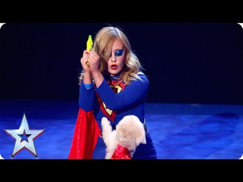 Super dog Trip Hazard comes to the rescue | Grand Final | Britain's Got Talent 2016