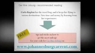 Car Hire in Joburg -- 3 Tips to Help You Stay Sane on the Road