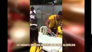 Laudo confirma que universit�rio mineiro morreu de coma alco�lico em festa em SP