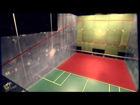 Racquetball on a Squash court