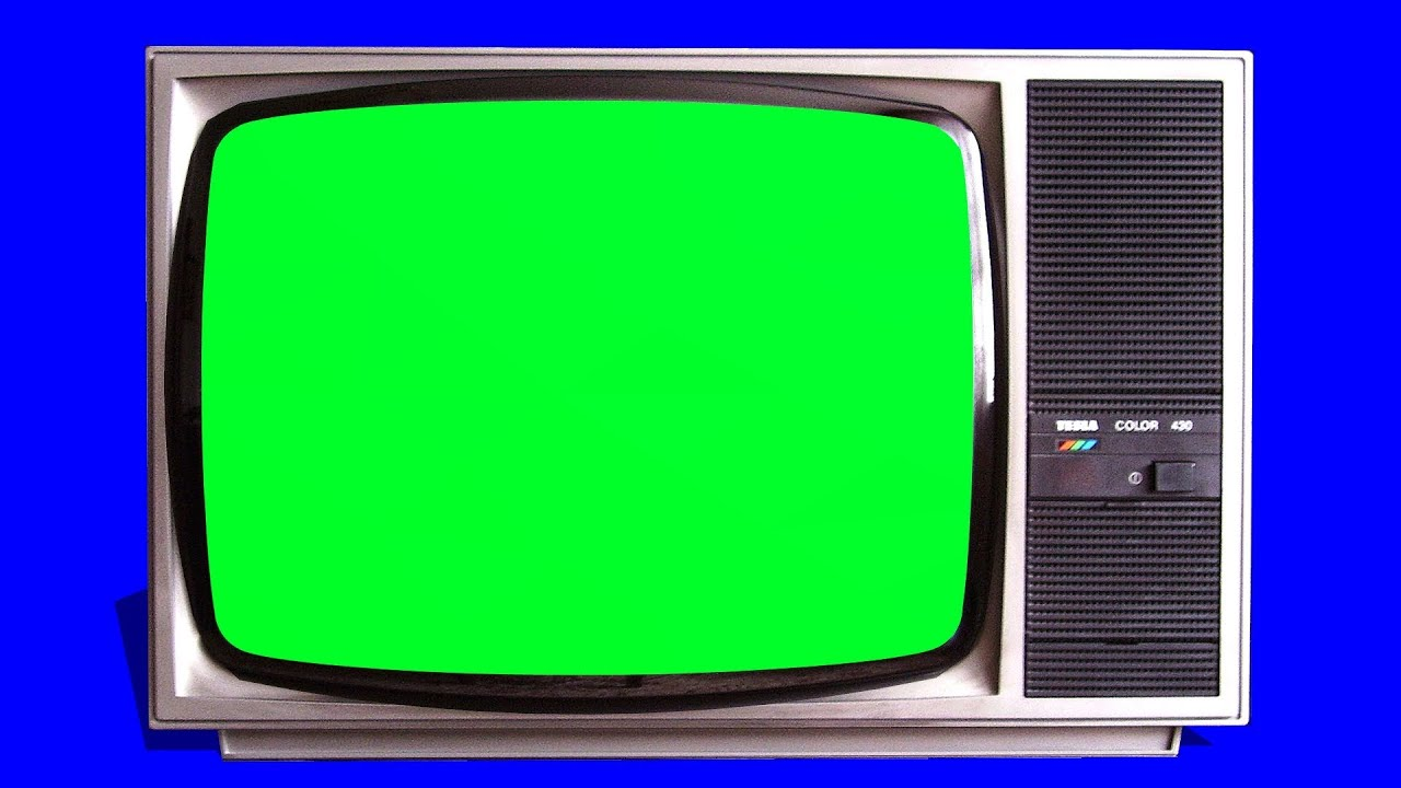 Old Tv Vintage Televison Green Screen - Tracking Shot And Stills - Free Green Screen 1