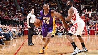 Kobe Bryant Duels James Harden in Houston