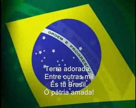 Hino Nacional Brasileiro (legendaa e Bandeira)
